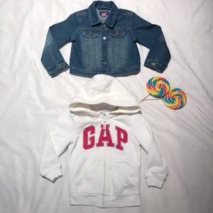 GAP Hoodie and Jean Jacket sz 4T
